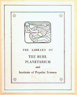 Buhl Library Label